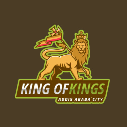 Logo Generator for a Gaming Squad Featuring a Royal Lion Illustration 2704i