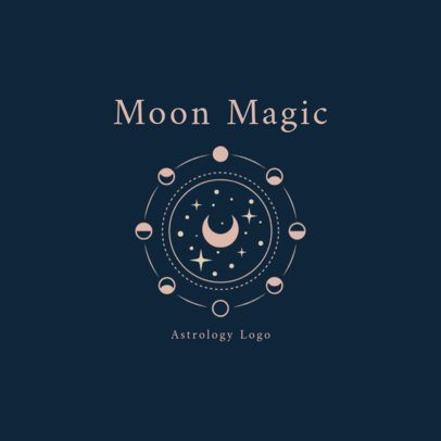 Astrology Logo Maker Featuring the Moon Phases 2662i