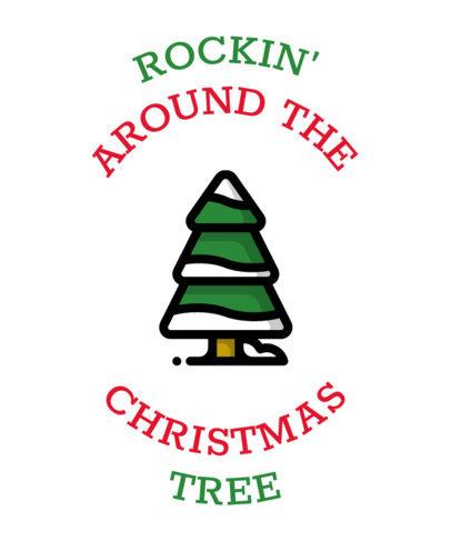 T-Shirt Design Maker for a Rocking Christmas 30a-el