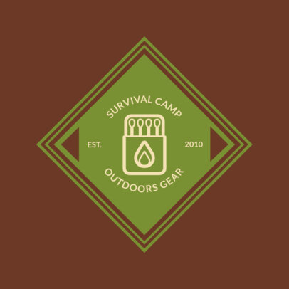 Online Logo Maker for a Survival Camp