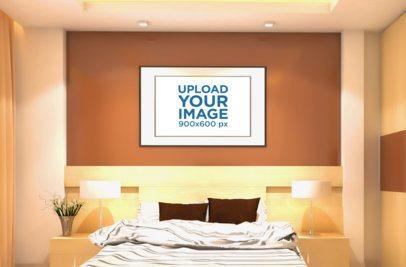 Art Print Mockup Featuring a Hotel Room 833-el