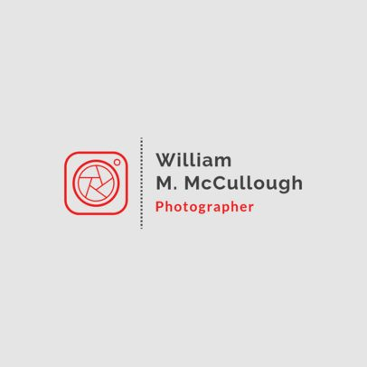 Photography Logo Maker Featuring a Minimalist Clipart 1498f-103-el