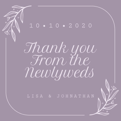 Wedding Instagram Post Template with an Elegant Style 1998d