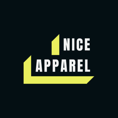 Text Block Logo Template for an Urban Apparel Brand 2722f
