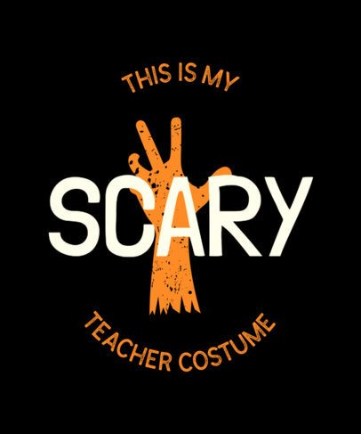 T-Shirt Design Maker Featuring Scary Halloween Graphic 5-el