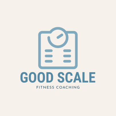 Fitness Coach Logo Maker with a Weighing Scale Icon 2459i-153-el