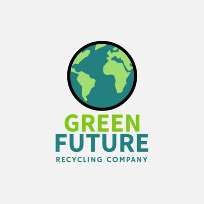 Recycling Company Logo Template with an Earth Clipart 1255h 170-el