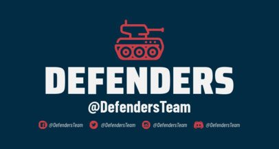 Twitch Banner Maker Featuring a Combat Vehicle 1456f 202-el
