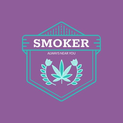 Logo Creator Featuring a Marijuana Leaf 161a-el1