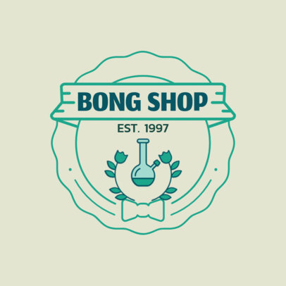 Online Logo Maker for a Bong Shop 161c-el