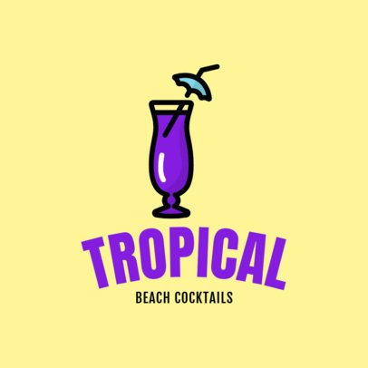 Colorful Logo Maker for a Beach Bar 1760l 221-el