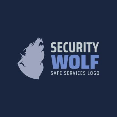 Logo Template for a Security Company Featuring a Howling Wolf Graphic 1788f 2659