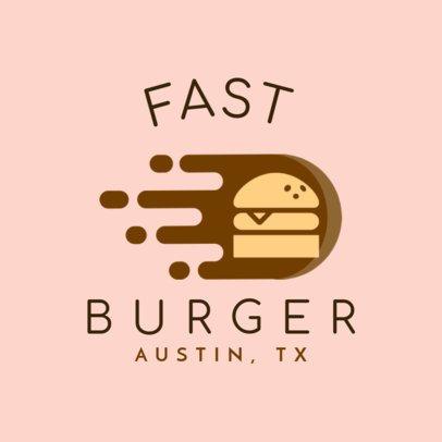 Fast Food Logo Maker for a Burger Restaurant 1213j-205-el