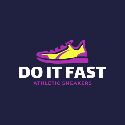 Athletic Sneakers Store Logo Creator 1261f 249-el