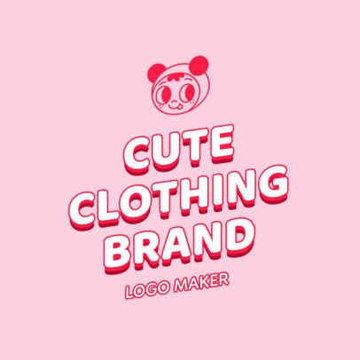 Clothing Brand Logo Maker Featuring Cute Graphics 2735