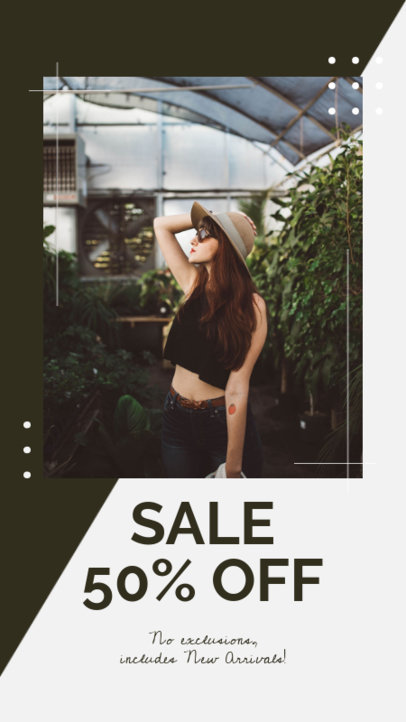 Fashion-Themed Instagram Story Maker Featuring a Huge Sale Promo 45b-el