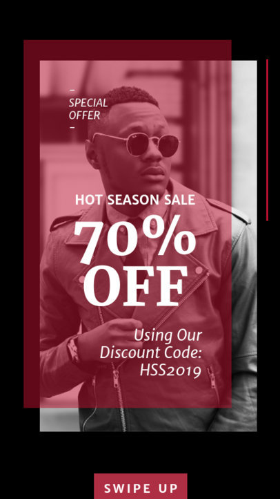 Contemporary Instagram Story Template for a Season Sale