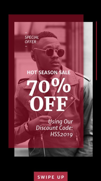 Contemporary Instagram Story Template for a Season Sale 40c-el