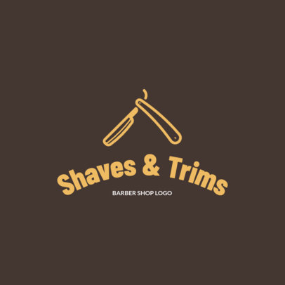 Simple Logo Maker for a Barber Shop Featuring a Straight Razor Clipart 1153h 157-el