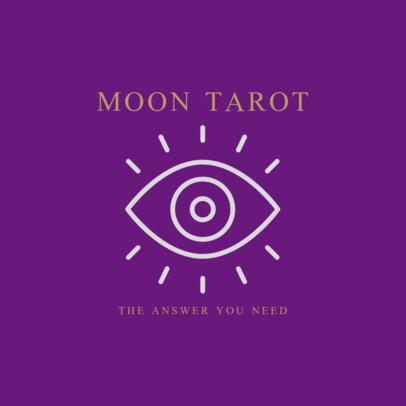 Tarot Logo Template Featuring an Eye Clipart 2662k-216-el