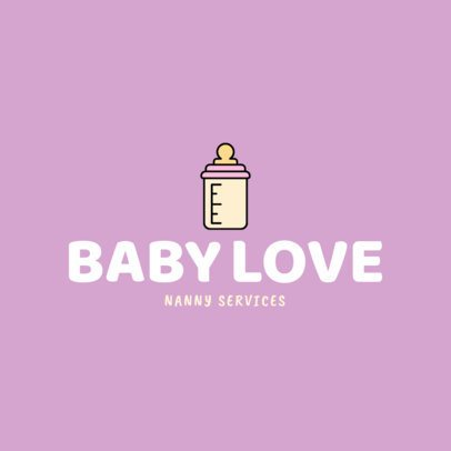 Babysitter Logo Maker with a Baby Bottle Clipart 1198f 145-el