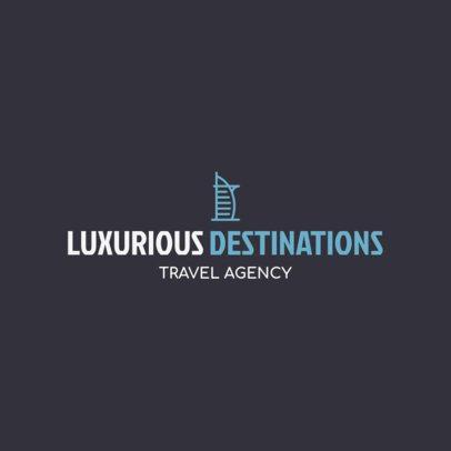 Luxury Travel Agency Logo Generator 1148k 135-el