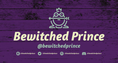Fantasy Twitch Banner Maker with a Prince Frog Clipart 1456h-210-el