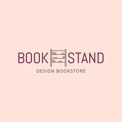 Bookstore Logo Maker with a Minimalistic Style 1268g-121-el