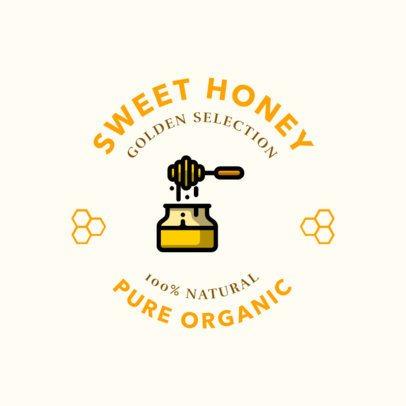 Logo Design Template for an Organic Honey Store 1287l-208-el