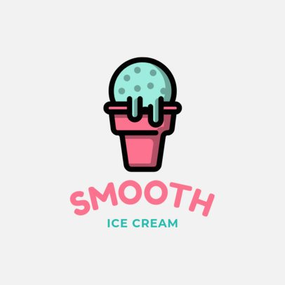 Simple Logo Design Maker with an Ice Cream Clipart 1240h-208-el