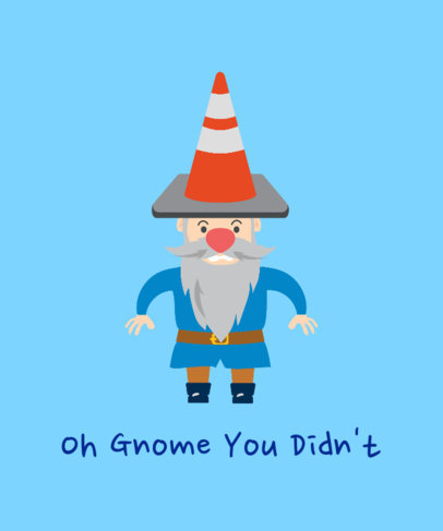 T-Shirt Design Maker Featuring a Hilarious Gnome Illustration 2008f