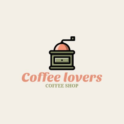Simple Coffee Shop Logo Design Template 956h-208-el
