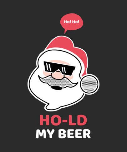 T-Shirt Maker with a Cool Santa Claus Illustration 51a-el
