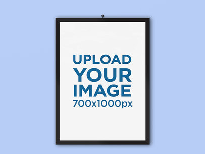 Minimalistic Poster Mockup Placed over a Flat Surface 1250-el