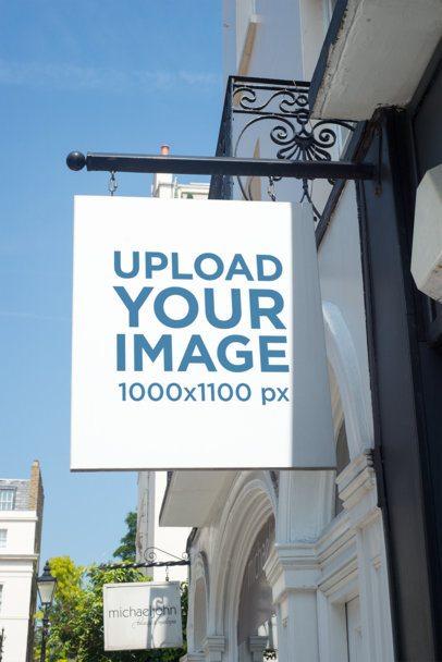 Mockup of a Store Sign 1329-el