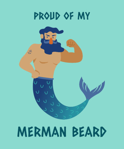 Funny T-Shirt Design Maker with a Male Siren Graphic 2008c