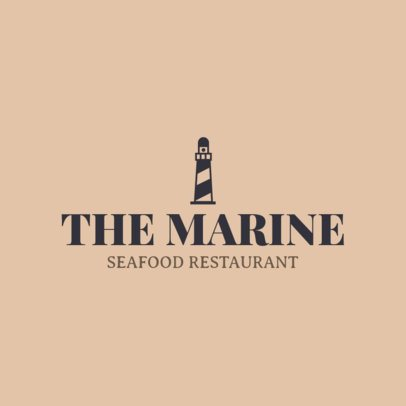 Seafood Restaurant Logo Creator with a Lighthouse Clipart 1801k 197-el