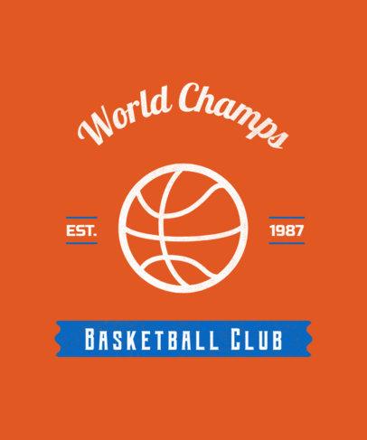 Basketball Club T-Shirt Design Template 104d-255-el