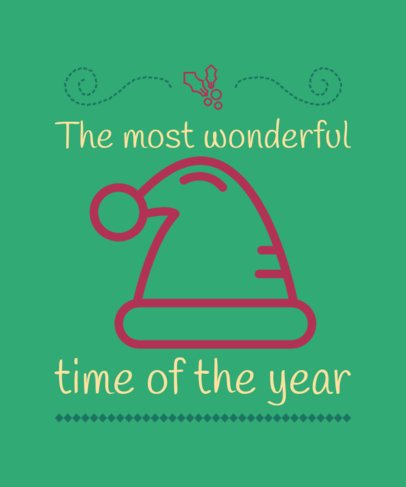 Christmas T-Shirt Design Maker with a Joyful Quote 7d-232-el