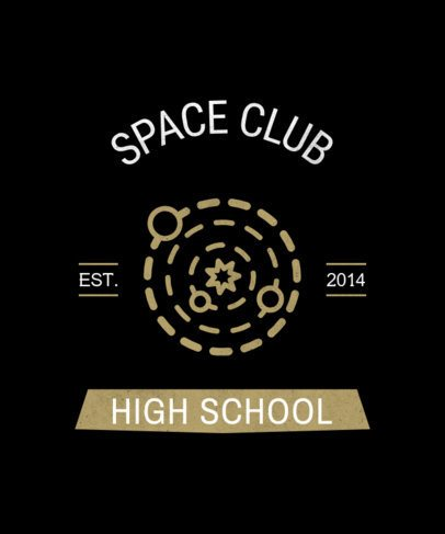 T-Shirt Design Maker for a Space Club 484m 255-el