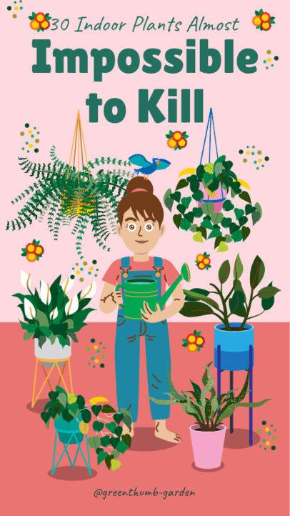 Instagram Story Generator Featuring Resistant Indoor Plants 2005b