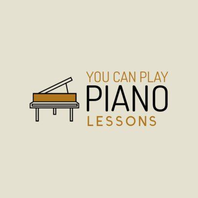 Logo Maker for Piano Lessons 1136j-236-el