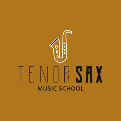 Music School Logo Maker with a Sax Icon 1308j-236-el