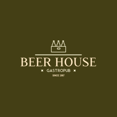 Modern Logo Design Template for a Beer Pub 1654f-256-el