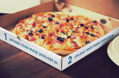 Mockup of a Pizza Box with a Delicious Looking Pizza 1080-el