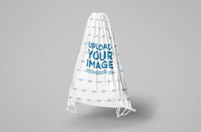 Mockup of a Drawstring Bag in a Studio 820-el