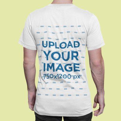T-Shirt Mockup of a Man Standing Backward in a Studio 1418-el