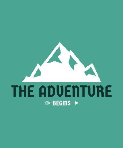 T-Shirt Maker Featuring a Mountain Illustration 58a-el