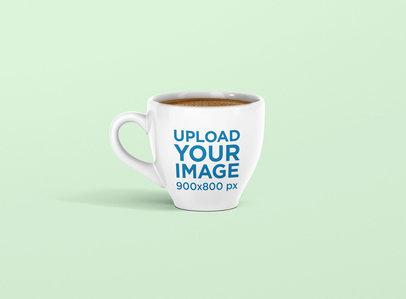 Mockup of a Coffee Mug with a Transparent Background 1452-el