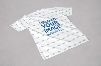 Back View Mockup of a Sublimated T-Shirt Placed on a Solid Color Surface 1045-el